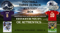 OKAUTHENTICS Three (3) Pack Football Mystery Box Series III at PristineAuction.com