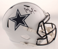 Michael Gallup Signed Cowboys Full-Size Matte White Speed Helmet (JSA COA) at PristineAuction.com
