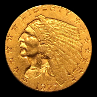 1927 $2.50 Indian Head Quarter Eagle Gold Coin at PristineAuction.com