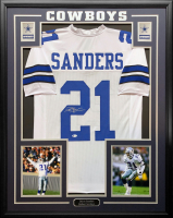 Deion Sanders Signed 34.5x42.5 Custom Framed Jersey (Beckett COA) at PristineAuction.com