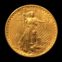 1913 $20 Saint-Gaudens Double Eagle Gold Coin at PristineAuction.com