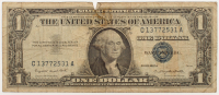 1957-A U.S. $1 One Dollar Blue Seal Silver Certificate Note at PristineAuction.com