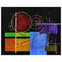 "George Marlowe Signed ""Seaborgium"" 30x24 Original Acrylic Painting on Canvas at PristineAuction.com"