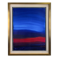 "Wyland Signed ""Earth Ends, Heaven Begins"" 30x37 Original Painting at PristineAuction.com"