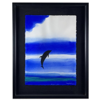 "Wyland Signed ""Kauai Skies"" 33x41 Custom Framed Original Painting at PristineAuction.com"