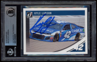 Kyle Larson Signed 2019 Donruss #93 (BGS Encapsulated) at PristineAuction.com