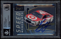 Kyle Larson Signed 2017 Select Speed Merchants #9 (BGS Encapsulated) at PristineAuction.com