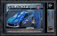 Kyle Larson Signed 2019 Panini Prizm #80 Velocity (BGS Encapsulated) at PristineAuction.com