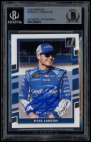Kyle Larson Signed 2018 Donruss #47B (BGS Encapsulated) at PristineAuction.com