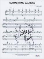 "Lana Del Rey Signed ""Summertime Sadness"" 8.5x11 Lyric Sheet (PSA COA) at PristineAuction.com"