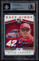 Kyle Larson Signed 2018 Donruss #20 Race Kings (BGS Encapsulated) at PristineAuction.com