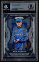 Kyle Larson Signed 2018 Panini Prizm #34 (BGS Encapsulated) at PristineAuction.com