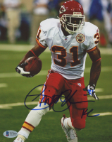 Priest Holmes Signed Chiefs 8x10 Photo (Beckett COA) at PristineAuction.com