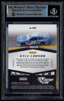 Kyle Larson Signed 2019 Panini Victory Lane Starting Grid Blue #16 (BGS Encapsulated) at PristineAuction.com