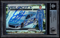 Kyle Larson Signed 2019 Panini Prizm Prizms Camo #80 Velocity (BGS Encapsulated) at PristineAuction.com