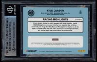Kyle Larson Signed 2019 Donruss Optic Red Wave #80 Retro (BGS Encapsulated) at PristineAuction.com