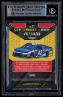 Kyle Larson Signed 2019 Donruss Contenders #7 (BGS Encapsulated) at PristineAuction.com