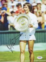 Martina Navratilova Signed 8.5x11 Photo (PSA COA) at PristineAuction.com