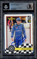 Kyle Larson Signed 2019 Donruss Originals #10 (BGS Encapsulated) at PristineAuction.com