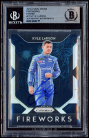 Kyle Larson Signed 2019 Panini Prizm Fireworks Prizms #10 (BGS Encapsulated) at PristineAuction.com