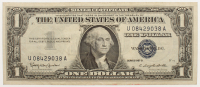 1957-B U.S. $1 One Dollar Blue Seal Silver Certificate Note at PristineAuction.com