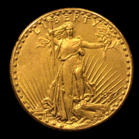 1927 $20 Saint-Gaudens Double Eagle Gold Coin at PristineAuction.com