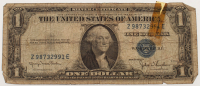 1935-D U.S. $1 One Dollar Blue Seal Silver Certificate Note at PristineAuction.com