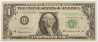 1963 U.S. $1 One-Dollar Green Seal U.S. Federal Reserve Note at PristineAuction.com