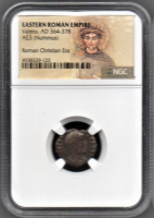 Valens Roman Bronze Coin AD 365-378 (NGC Encapsulated) at PristineAuction.com