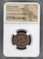 Maximinus II Roman Bronze Coin AD 310-313 (NGC Encapsulated) at PristineAuction.com