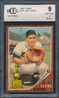 Joe Torre 1962 Topps #218 RC (BCCG 9) at PristineAuction.com