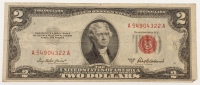 1953-A $2 Two Dollar Red Seal U.S. Federal Reserve Note at PristineAuction.com