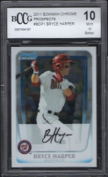 2011 Bowman Chrome Prospects #BCP1 Bryce Harper (BCCG 10) at PristineAuction.com