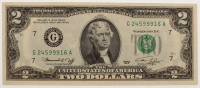 1976 $2 Two Dollar Green Seal U.S. Federal Reserve Note at PristineAuction.com