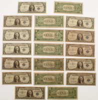 Lot of (19) 1935/1957 $1 One-Dollar U.S. Blue Seal Silver Certificates at PristineAuction.com