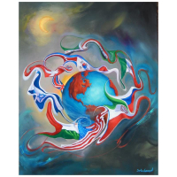 "Jim Warren Signed ""Come Together"" 30x24 Artist Embellished AP Limited Edition Giclee on Canvas at PristineAuction.com"