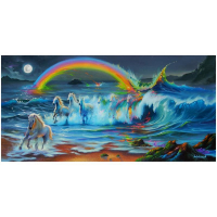 """Jim Warren Signed """"Living Color"""" 18x36 Artist Embellished AP Limited Edition Giclee on Canvas at PristineAuction.com"""