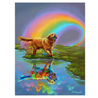 "Jim Warren Signed ""Gold at the End of the Rainbow"" 24x18 Artist Embellished AP Limited Edition Giclee on Canvas at PristineAuction.com"