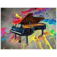 """Jim Warren Signed """"Very Grand Piano"""" 18x24 Artist Embellished AP Limited Edition Giclee on Canvas (PA LOA) at PristineAuction.com"""
