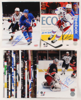 Lot of (26) Signed New York Rangers 8x10 Photos with Michael Del Zotto, J.T. Miller, Marc Staal, Stu Bickel (YSMS COA & Boyle Hologram & Duclair Hologram & Raanta Hologram & Hayes Hologram & Kreider Hologram & Talbot Hologram & Vesey Hologram) at PristineAuction.com