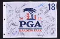 2020 PGA Championship Golf Pin Flag Signed by (30) with Patrick Reed, Brooks Koepka, Bubba Watson, Keegan Bradley, Billy Horschel (JSA ALOA) at PristineAuction.com