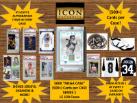 "ICON AUTHENTIC  500X ""MEGA CASE"" SERIES 1 - (500+ Cards per Case)  THE ULTIMATE COLLECTORS CASE!! at PristineAuction.com"