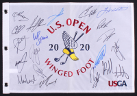 2020 U.S. Open Golf Pin Flag Signed by (20) with Patrick Reed, Bubba Watson, Sergio Garcia, Jon Rahm, Marc Leishman (JSA ALOA) at PristineAuction.com