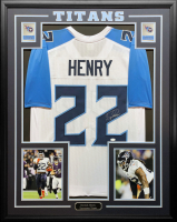 Derrick Henry Signed 34.5x42.5 Custom Framed Jersey (JSA COA) at PristineAuction.com