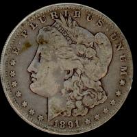 1891-O Morgan Silver Dollar at PristineAuction.com
