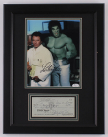 "Lou Ferrigno & Bill Bixby Signed ""The Incredible Hulk"" 14.25x18.5 Custom Framed Display (JSA COA) at PristineAuction.com"