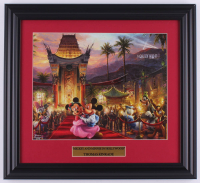 "Thomas Kinkade Walt Disney's ""Mickey & Minnie in Hollywood"" 15x16.5 Custom Framed Print Display at PristineAuction.com"