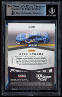 Kyle Larson Signed 2019 Panini Victory Lane Starting Grid Gold #16 (BGS Encapsulated) at PristineAuction.com