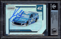 Kyle Larson Signed 2019 Panini Prizm In the Groove Prizms #11 (BGS Encapsulated) at PristineAuction.com