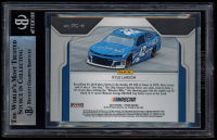 Kyle Larson Signed 2019 Panini Prizm In the Groove #11 (BGS Encapsulated) at PristineAuction.com